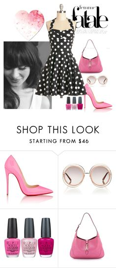 """Introducing Pink!"" by brandonandrews500 ❤ liked on Polyvore featuring Christian Louboutin, Chloé, OPI and Zooey"