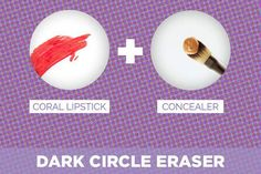 coral-red-lipstick-under-eyes-concealer-hacks-tips-tricks