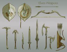 Elven Weapons, Ray Lederer on ArtStation at http://www.artstation.com/artwork/elven-weapons