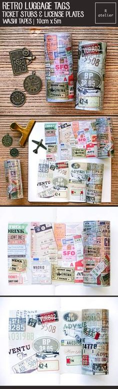 Washi tapes are wonderful embellishments for packaging, craft and whatever you fancy to decorate. Simply perfect for decorating journals and more!
