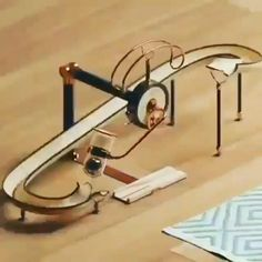 Rolling Ball Sculpture, Qhd Wallpaper, Front Door Design Wood, Rube Goldberg Machine, Gundam Toys, Marble Machine, Diy Wooden Projects, Paper Toy, Cool Paper Crafts