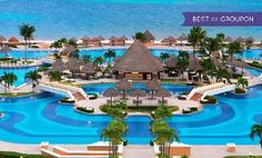 Groupon - ✈ All-Inclusive Moon Palace Cancun Stay with Air. Includes Taxes and Fees. Price per Person Based on Double Occupancy. in Cancún, Mexico. Groupon deal price: $1,499