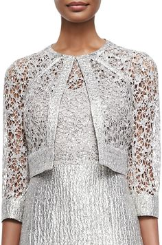 Kay Unger New York Sequined Lace Jacket on shopstyle.com