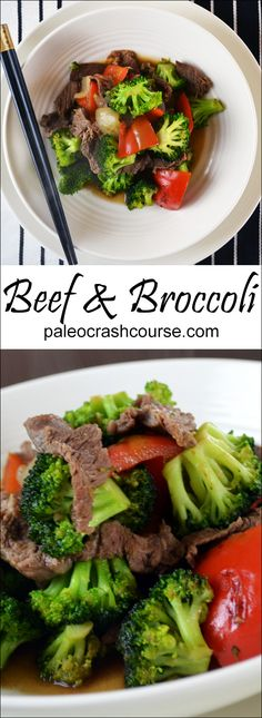 A delicious Paleo beef and broccoli stir fry that uses coconut Aminos as healthy but tasty Paleo friendly soy alternative.
