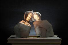 Concrete Handmade Lamps on Behance