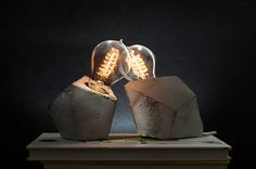 Concrete Handmade Lamps on Behance