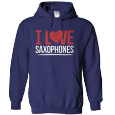 Sometimes the deepest feelings can only be expressed in the simplest terms. That's why your love for the saxophone is clear as day in this brightly-colored tee or hoodie that features a huge red heart