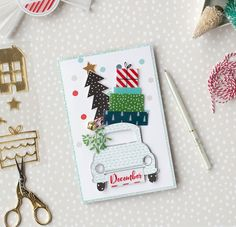 My shiny studio: Last Christmas + Card + XmasCar free cut file. use dxf file for Cricut