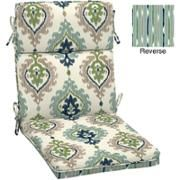 Walmart: Better Homes and Gardens Dining Chair Outdoor Cushion, Ikat Medallion