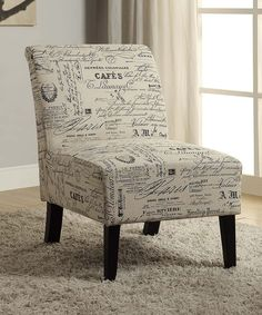Another great find on #zulily! Script Lily Linen Chair by Linon Home #zulilyfinds
