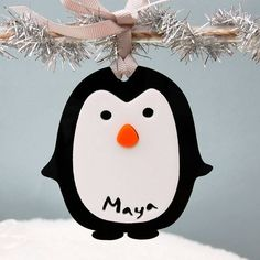 Personalised Penguin Gift Tag Or Tree Decoration