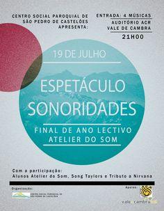 Espetáculo: Sonoridades > 19 Jul 2014, 21h00 @ Auditório da ACR, Vale de Cambra  #ValeDeCambra