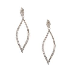 Curved Crystal Marquis Drop Earrings Currently 5.00