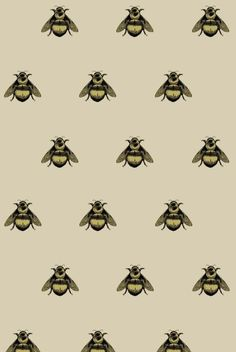 Napoleon Bee Wallpaper by Timorous Beasties Cool Powerpoint Backgrounds, Powerpoint Background Design, Background Designs, Summer Backgrounds, Beige Background, Fabric Wallpaper, Of Wallpaper, Wallpaper Backgrounds, Wallpapers