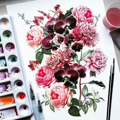 """Polubienia: 1,358, komentarze: 29 – H e l e n a    R o c h a h (@helenarochah) na Instagramie: """"Flowers - Watercolor - My Prints Can I say that I love my job? I know I made the right choice.…"""""""