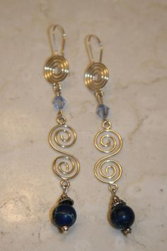 Sea Sediment Jasper Swirl Earrings