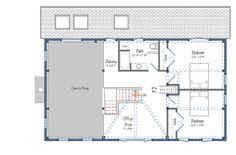 The Haley | Barn Style Carriage House Plan | Barn Home Plans