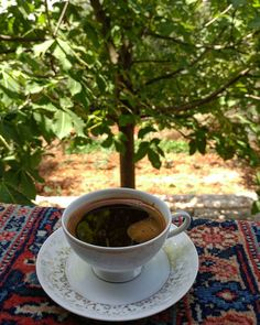 Getting spoilt. At the point now where I expect coffee to come with a... (Dayr Al Qamar, Mont-Liban, Lebanon)