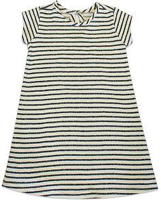 Gray & Ivory Stripe Maggie Dress - Toddler & Girls