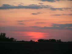 sun set on the plains