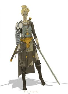 ArtStation - warrior lady, richard anderson