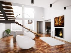 Makuuhuone | Sisustusblogi How great Go brown and white Together! Love the #floor.