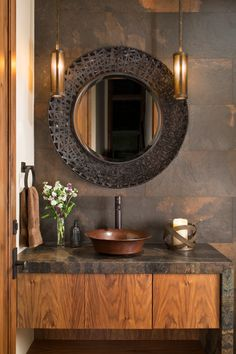 Rustic Powder Room Ideas Awesome Rustic Powder Room Design Ideas Remodels S Washroom Design, Bathroom Design Luxury, Modern Bathroom Decor, Rustic Bathrooms, Modern Bathroom Design, Indian Home Design, Home Room Design, Home Interior Design, Rustic Powder Room