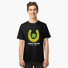 'Lucky Charm Petal Graphic For St Patrick's Day' Classic T-Shirt by Green Beer, Irish Pride, Paddys Day, Matching Shirts, Lucky Charm, St Patricks Day, Drinking, Festive, Heather Grey