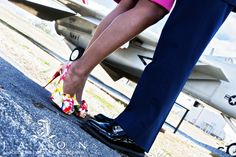Christian Louboutin at engagement photography session