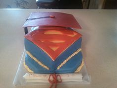 superman graduation cake 2012