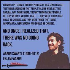 Aaron Swartz (1986-2013) was a computer programmer, writer and Internet…