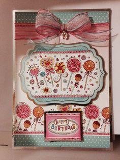 Made from Hunkydory Birthday girl kit.