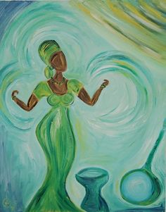African Lady Dancing Original Oil Painting on Canvas by Nicola Berry My Canvas, Oil On Canvas, Still Life Oil Painting, Oil Painting Abstract, Painting Canvas, Modern Art, Art Gallery, Hand Painted, Sculpture