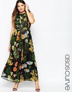 ASOS CURVE Maxi Dress in Botanical Floral