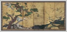 Hasegawa Tōhaku, Flowers and Birds of Spring and Summer, ca. 1580s (Momoyama period).