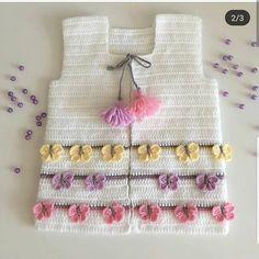 42 Ideas For Crochet Kids Bolero Layette Crochet Baby Sweater Pattern, Crochet Baby Sweaters, Baby Sweater Patterns, Crochet Baby Cardigan, Easy Knitting Patterns, Baby Patterns, Baby Knitting, Crochet Patterns, Crochet Girls