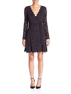 Diane von Furstenberg Shaelyn Lace Wrap Dress