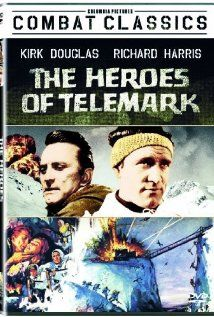 The Heroes of Telemark (1965) starring Kirk Dougas, Richard Harris, Michael Redgrave, and Ulla Jacobsson.