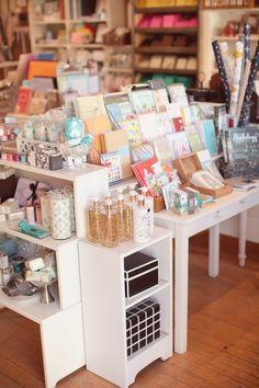Urbanic Paper Boutique - clear acrylic shelves