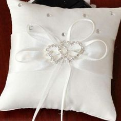 Hot Sale Butterfly Ring Style Pure White Pillow Cushion Bowknot For Wedding Supplies Accesssries Wedding Ring Cushion, Wedding Pillows, Cushion Ring, Ring Bearer Pillows, Ring Pillows, Lace Ring, Rings For Girls, Wedding Rings, Wedding Veils