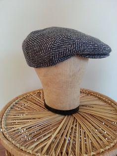 Vintage Men's Wool tweed herringbone driving by thejadedorris