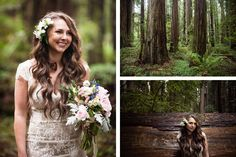 This stunning wedding near the Oregon/California border is full of dramatic images of towering trees and misty weather. See all the beautiful details here: http://www.mywedding.com/articles/craig-and-cecilias-woodsy-cave-junction-or-wedding-by-viera-photographics/