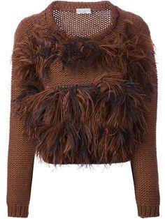 Brunello Cucinelli   BRUNELLO CUCINELLI feathered knit sweater #brunellocucinelli #feathered #sweater
