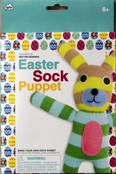 npw easter sock puppet kit is available at scrapbookfare