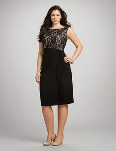 Display your feminine side with a romantic, plus size lace dress from dressbarn. These lace dresses are designed with your full figure in mind for a flattering fit. Formal Dresses With Sleeves, Plus Size Dresses, Lace Dresses, Modest Fashion, Dress Patterns, Pretty Dresses, Plus Size Fashion, Designer Dresses, Party Dress
