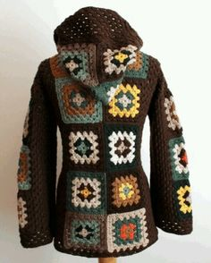 granny square jacket   Crochet Accessories / Boho granny square jacket