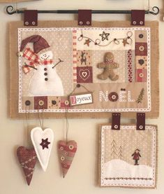 Quick Country Christmas Quilts Country Christmas Quilt Patterns Traditional Quilted Wall Hanging With Snowman And Ginger Bread Man Love It Cores Diferentes Das Tradicionais Plus Country Christmas Quil