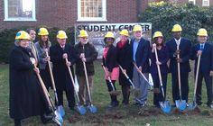 Groundbreaking for the Student Center, December 2012.