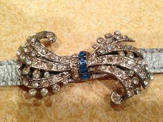 Vintage repurposed brooch bracelet by JNPVintageJewelry on Etsy, $75.00