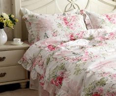Amazon.com: Shabby and elegant New Pink Cotton 4pc Bedding Duvet cover set-queen: Home & Kitchen